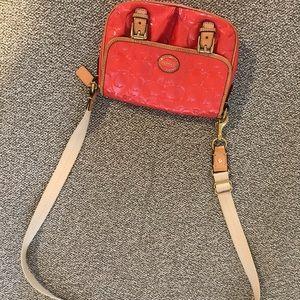 Handbags - Coach coral patent leather crossbody